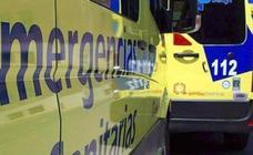 Un ciclista resulta herido tras sufrir una caída en una pista junto al alto Manzarnoso en Ucedo