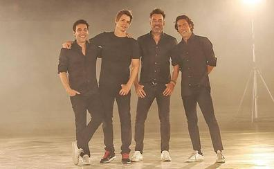 Los Quijano y Carlos Baute convierten el Palacio de Exposiciones en el escenario de su último videoclip