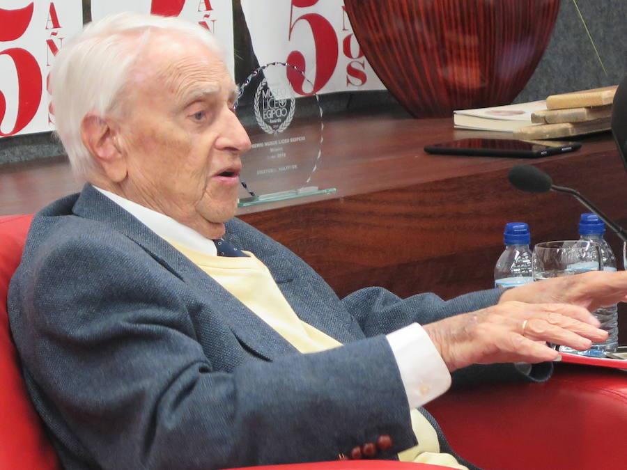 Cristóbal Halffter recoge el premio Museo Liceo Egipcio de la Música