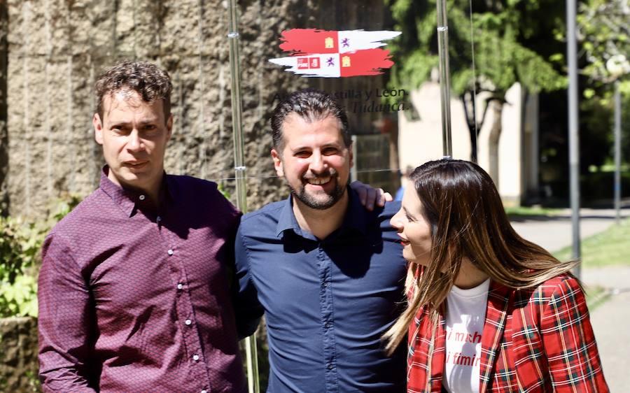 El candidato socialista a la Presidencia de la Junta, Luis Tudanca, visita Villablino