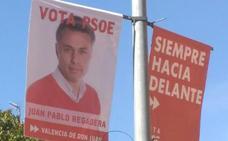 El PSOE no pegará carteles para contribuir con una Valencia de Don Juan «más limpia, ecológica y moderna»