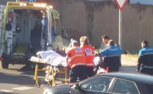 Dos personas heridas tras ser arrollada por un vehículo en la Calle Peñablanca de la capital