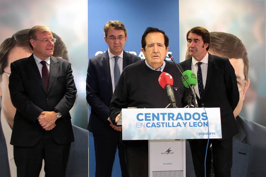 Rueda de prensa del expresidente de la Junta Juan José Lucas en León