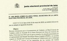 La Junta Electoral confirma a la de Zona y exige al alcalde de Valdeón y al presidente de la junta vecinal que dejen de usar los medios públicos para hacer campaña