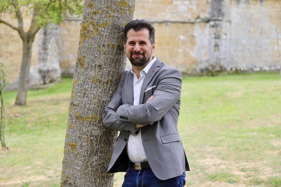 El candidato socialista a la Presidencia de la Junta, Luis Tudanca, en Medina de Pomar