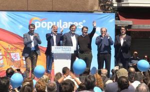 Rajoy advierte del peligro de votar a los «bisagristas» y apela al voto del PP de la «moderación, solvencia y confianza»