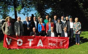 Puesta de largo de los candidatos del PSOE en el Órbigo