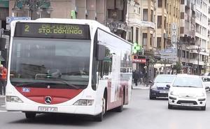 Los conductores de los buses urbanos inician la segunda semana de huelga con un seguimiento del 80%