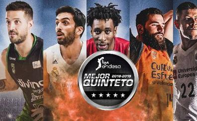 Laprovittola, Campazzo, Okoye, Dubljevic y Tavares, mejor quinteto de la temporada