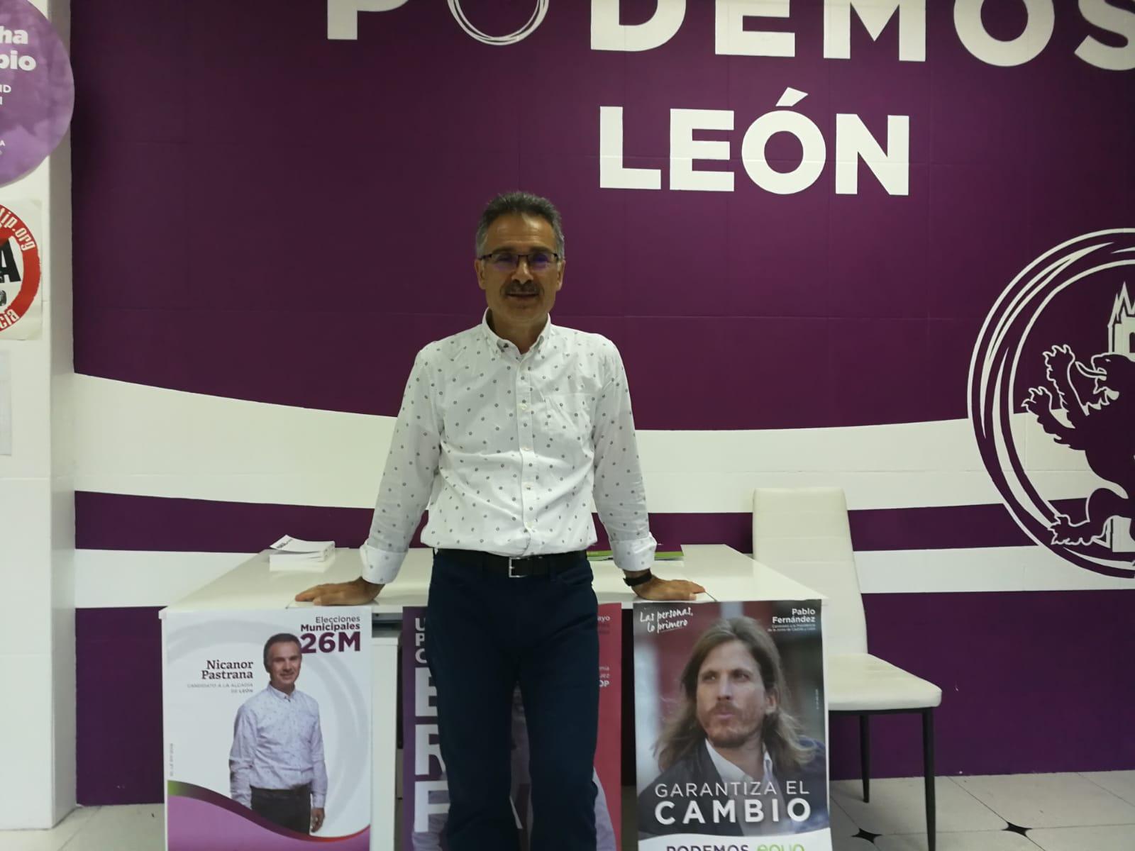 Nicanor Pastrana (Podemos) «Nos ha perjudicado la tendencia a la baja a nivel estatal»
