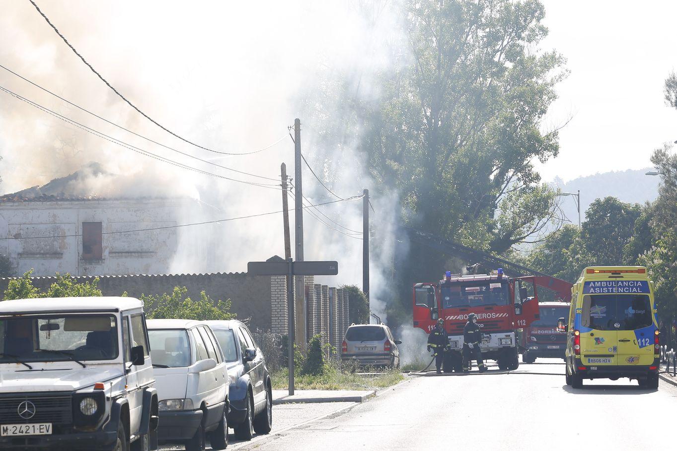 Un incendio alarma a León