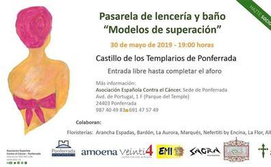 Mujeres operadas de cáncer de mama desfilan en lencería y ropa de baño este jueves en Ponferrada