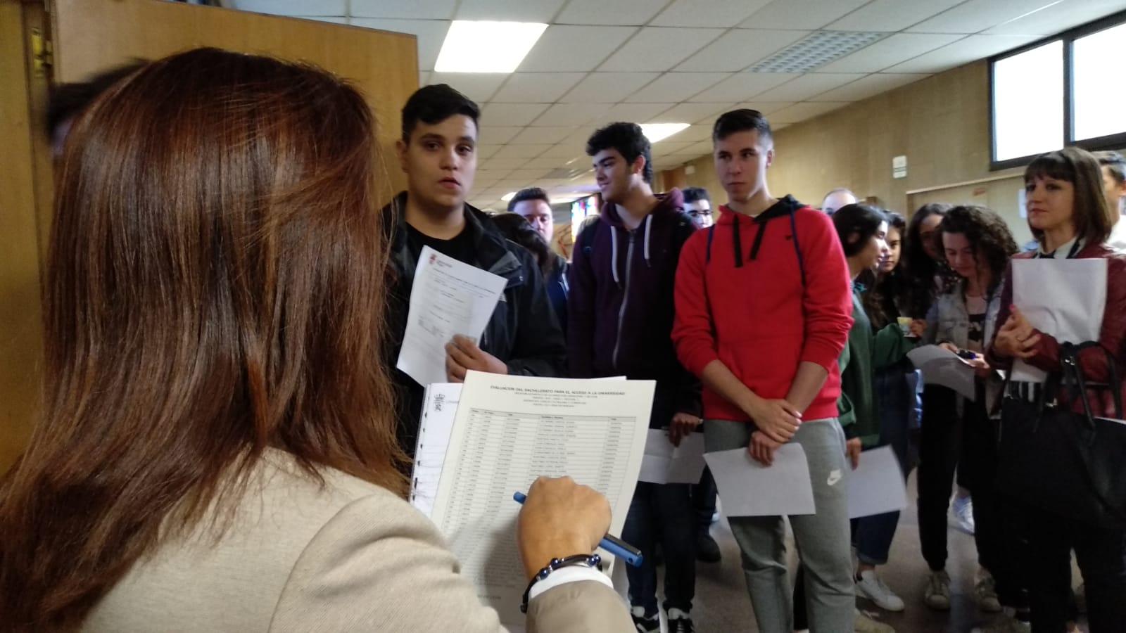 Comienzo de exámenes de la EBAU