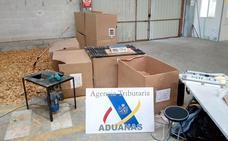 La Agencia Tributaria aprehende 3.000 kilos de picadura de tabaco de contrabando en Benavente