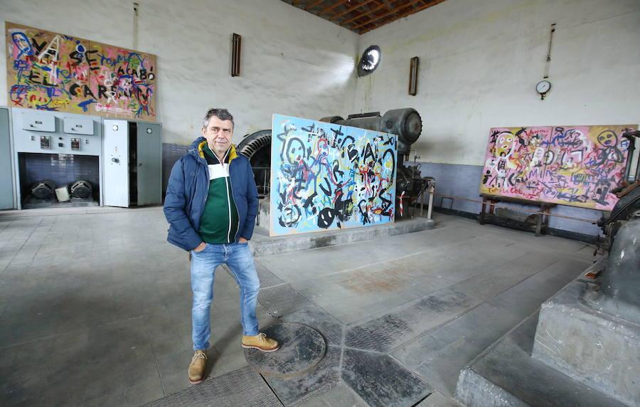 El arte y la mina se dan la mano en el Pozo Julia de Fabero con la muestra 'Colinas de carbón'