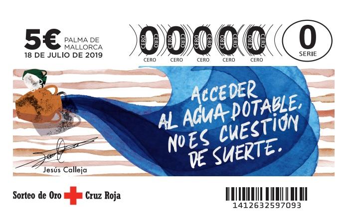 Jesús Calleja plasma su defensa de la naturaleza en el nuevo boleto del Sorteo del Oro de Cruz Roja