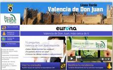 El 85% de las incidencias comunicadas a través del servicio Línea Verde de Valencia de Don Juan han sido ya solucionadas