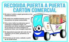 El Ayuntamiento de León realiza la recogida de cartón comercial 'puerta a puerta'