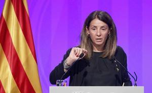 La portavoz de la Generalitat se niega a contestar a las preguntas en castellano