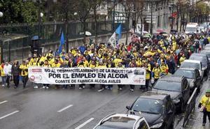 El Comité de Alcoa inicia 'La marcha por el aluminio' desde Asturias que llegará a León este sábado