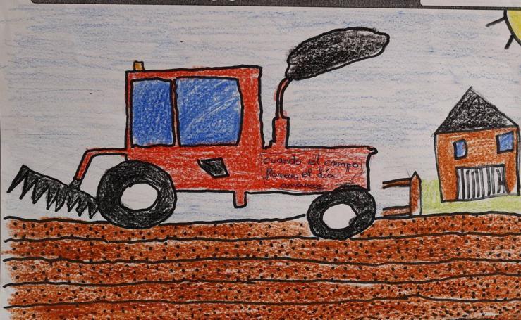 Trabajos de 5º de Primaria en la modalidad de dibujo del III Concurso de Dibujo y Cómic 'La vida del campo'