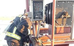 Un incendio en el silo de Garnica obliga a intervenir a los Bomberos de León