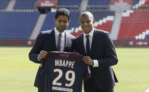 Al-Khelaïfi dice estar «seguro al 200%» de que Mbappé se queda en el PSG