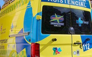 Herido un conductor tras colisionar su turismo con un tractor en Ponferrada