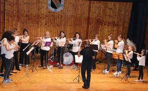 Concierto de fin de curso en la Escuela Municipal de Música de Valencia de Don Juan