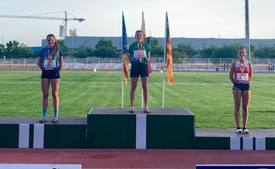 Nuria Menéndez, campeona de España de heptatlón sub18
