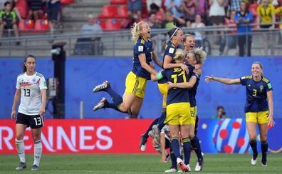 Suecia salda cuentas con Alemania y accede a semifinales