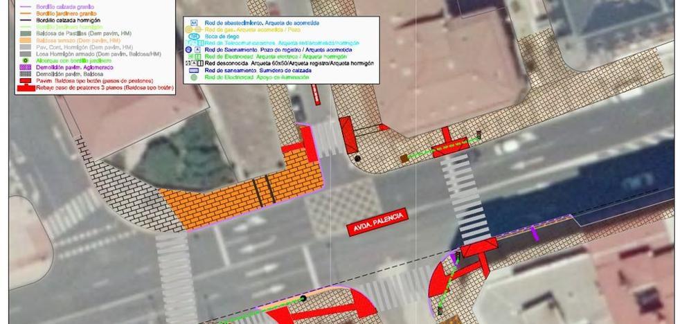 El Ayuntamiento mejorará las aceras de la estación del tren y del Palacio de Exposiciones otorgándoles mayor anchura