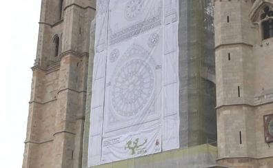 La complejidad de los trabajos de restauración impedirá descubrir el rosetón de la Catedral hasta 2021