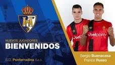 Buenacasa y Russo, nuevos refuerzos de la SD Ponferradina