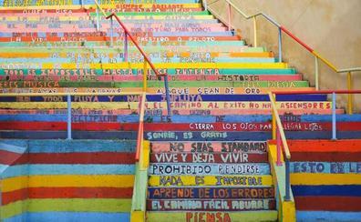 La 'Escalera de la vida' leonesa, expuesta en Vancouver como espacio artístico