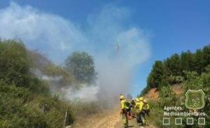 Sofocan en media hora la reproducción de un incendio provocado en Rioseco de Tapia