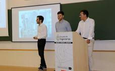 Tres alumnos de industriales de la ULE presentan su trabajo de fin de grado premiado por Siemens