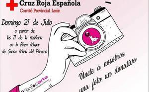 La asociación 'Enfocarte' de Santa María del Páramo organiza un 'photocall solidario' a favor de Cruz Roja