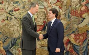 El Rey recibe por vez primera a Mañueco como presidente de Castilla y León