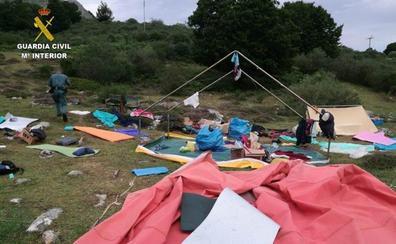 Evacúan a 323 menos acampados en Acebedo, Burón y Boca de Huérgano por el fuerte temporal