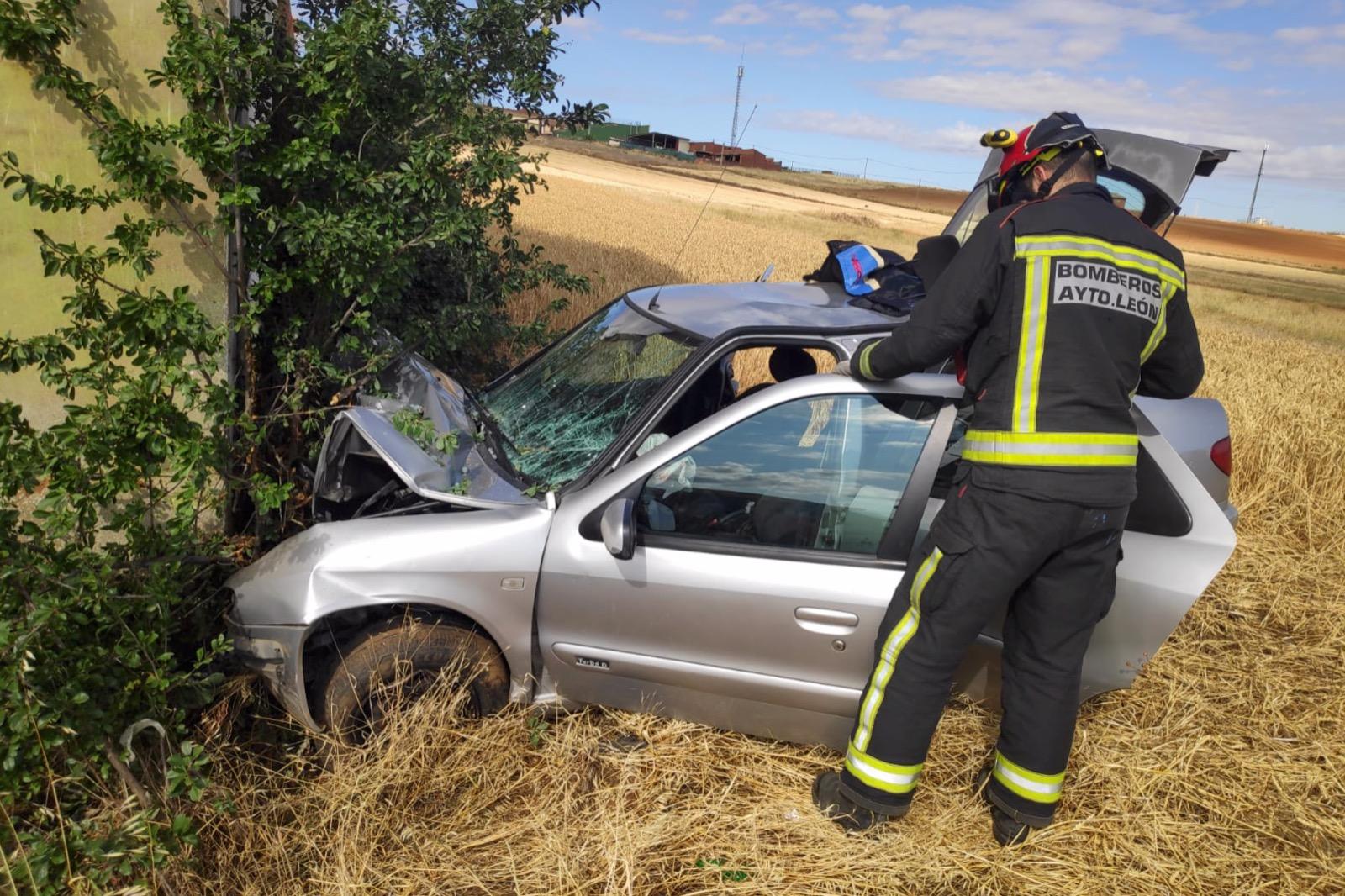 Herido un conductor de 70 años en Valverde Enrique