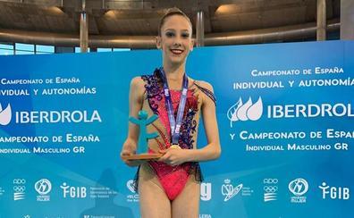 La gimnasta del Club Ritmo Sol Martínez compite en los Juegos Panamericanos