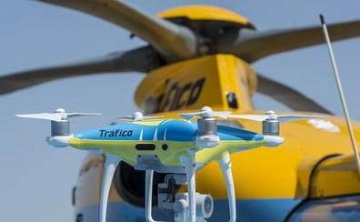 Drones de la DGT multarán a partir de mañana en las carreteras de Castilla y León