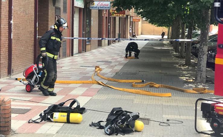 Incendio en un garaje de León capital