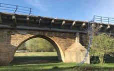 Las obras del puente de la N-601 en Puente Villarente cortarán el tráfico durante la próxima semana