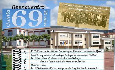 Reencuentro de la 'Quinta del 69' del Colegio Comarcal de 'Valles Boñar'