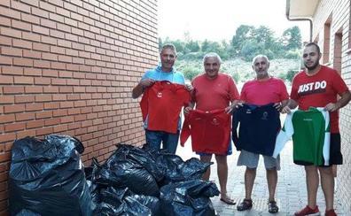 El C.D.F San Andrés ha donado más de 300 kilos en material deportivo