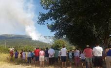 Un incendio entre los jardines del Palacio Real de La Granja y El Chorro amenaza el Parque Nacional de Guadarrama