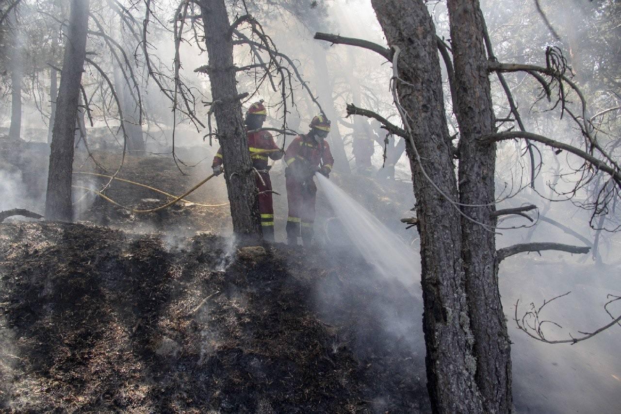 El batallón leonés de la UME llega al incendio de La Granja