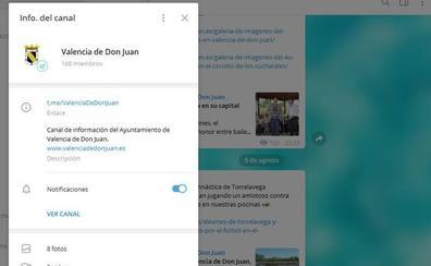 El Ayuntamiento de Valencia de Don Juan crea un canal de Telegram para informar de sus actividades